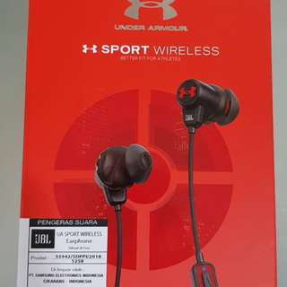 JBL sport under armour wireless earphone