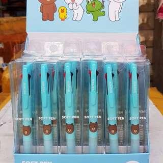 🚚 6/20收單💖 韓國LINE[藍]~三色原子筆✨