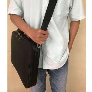 Bally Briefcase Leather Laptop Bag