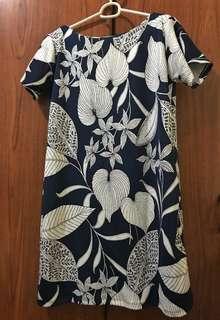 Blue & White Floral Dress