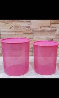 Tupperware One Touch Pink Set (2)