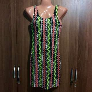 H&M Aztec body fit dress