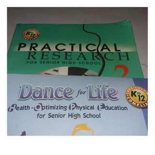 GRADE 12 BOOKS. K12. (PRACTICAL RESEARCH & DANCE FOR LIFE 2)