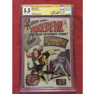 Daredevil #6 CGC 5.5 SS signed by Stan Lee