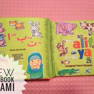 Buku bantal /Softbook Islami huruf hijaiyah