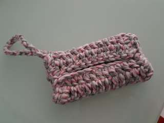 Crocheted tissue pouches