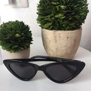 Black Cat Eye Mini Sunglasses