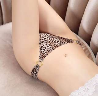Promotion: three pieces set - Sexy leopard thong / t-back / underwear/ panty