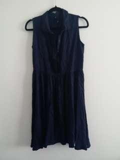 Navy blue huffer dress
