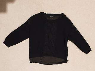 Zara black jumper sz s