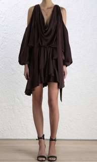 Sueded billow dress