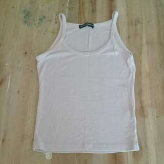 Brandy❤Melville blush ribbed tank top
