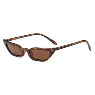 Brand New Small Cat Eye Sun Glasses Brown