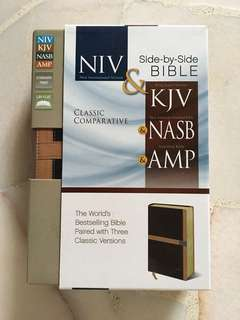 Bible: Classic Comparative Side-by-Side Bible; NIV/KJV/NASB/AMP