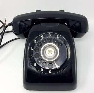 antique 日本昭和時代東芝黒電話 古董
