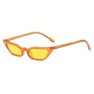 Brand New Small Cat Eye Sun Glasses Yellow