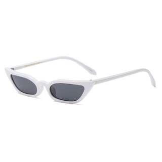 Brand New Small Cat Eye Sun Glasses White