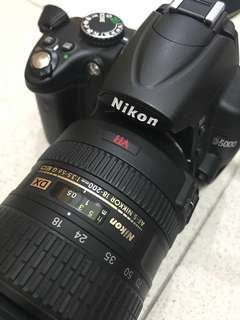 Nikon D5000 with NIKKOR 18-200mm & 35mm lens