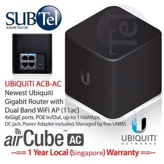 ACB-AC : Ubiquiti AirMAX AirCube AC Home Wi-Fi Access Point With Poe In/Out