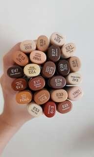 Copic brown set BIG DEAL 23pcs