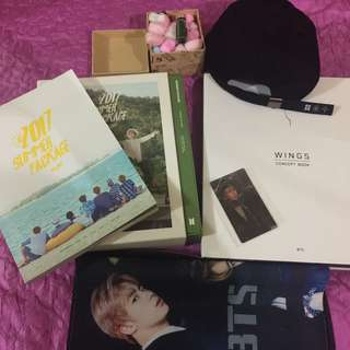 BTS concept book and summer package w/ freebies