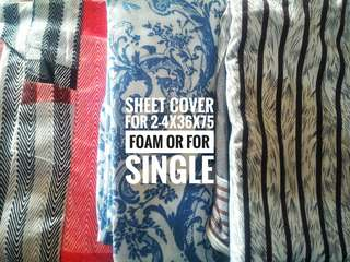 BED SHEET FOR SINGLE (2-4x36x75)