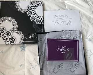 Doily Duck in Black (Brand New)