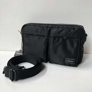 Porter Tanker Bag (Black) sz 24x13cm Made in Japan