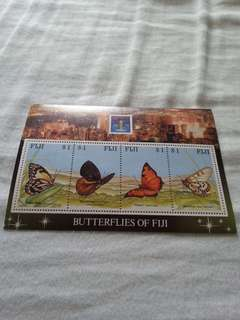 (Brand New, Straight Version) Butterflies of fiji hong kong 1994    (全新,直板)郵票 stamp