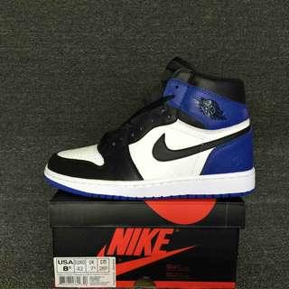 高幫AJ1男鞋籃球鞋橋丹1代系列裁片級 Fragment x Air Jordan 1 Retro High OG 橋1白黑藍 橋1閃電藤原浩41-46