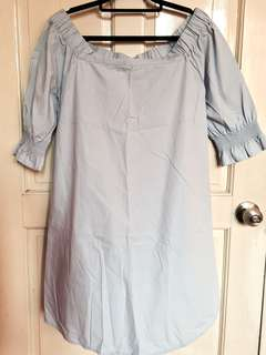 Cotton On Blue Off Shoulder Dress