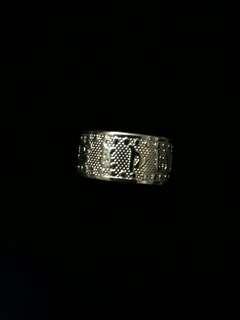 (戒指寬版款)純銀999·外刻六字真言·內刻心經文戒指·男女皆可載·大小可自行調整