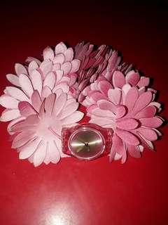 Swatch Floral Strap Watch Original