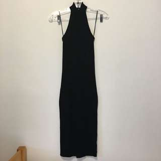 Black Halter Dress (xs)