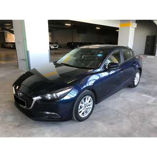 Last 2 Unit Left! 2017 Mazda 3 Available For Rental!! Grab / Long Term Personal Usage Welcome!