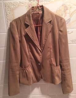 女裝啡色西裝外套䄛women's blazer jacket coat
