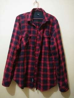 Kemeja Flannel Throox Original - #mausupreme