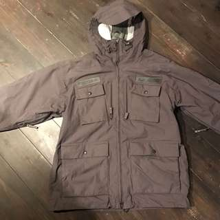 🚚 ANALOG snowboard wear nylon jacket charcoal gray system