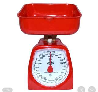 Accurate 5 Kilos Nops Kitchen Scale (Red)