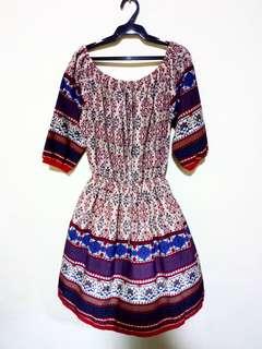 Boho off shoulder dress