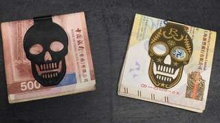 Rayal Skull money clip B $389/G $489