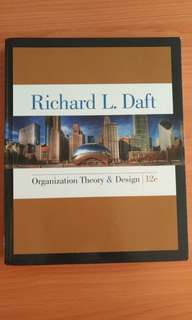 Organization Theory & Design (12 edition)