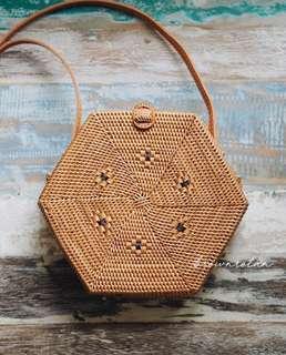 Hexagon Rattan Bag (pre order)