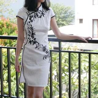 Congsam dress white