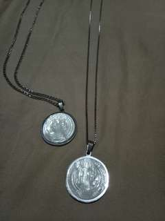 St. Benedict necklace ( mother of pearl)