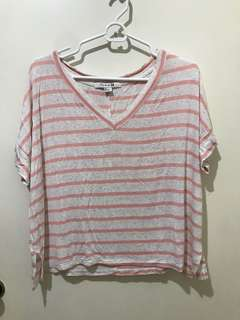 Forever 21 Striped Oversized Top
