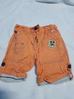 Mickey Mouse orange shorts