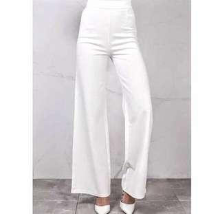 White plazzo pants