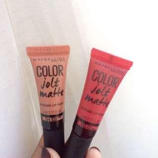 maybelline jolt matte lip paint