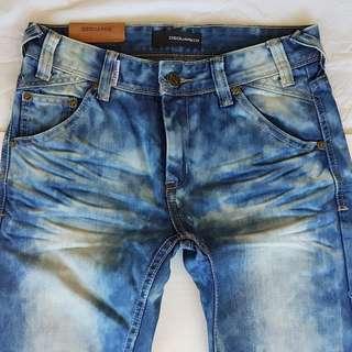 Vintage D2 Jeans, Retro Dsquared2 Denim, Rare Old Dsquared Designer Denim Jeans, Original, Italy, Seasoned Denim, Miner's Fashion, Street Smart Style, Unorthodox, Rock Star, Hipster, Hip Hop, Collectibles, Rugged Wear